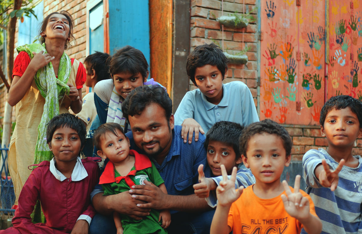 Peace Home Family - Sohel lives with the children in the Peace Home