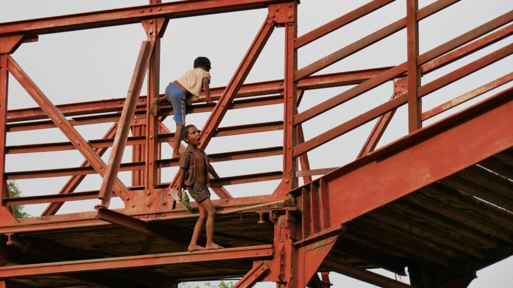 Street Children Climbing