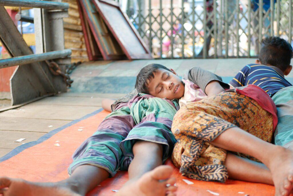 Street Child Asleep